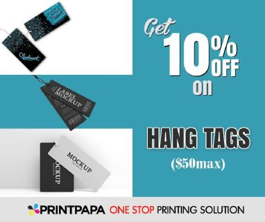 10% Off on a variety of Hang Tags from PrintPapa