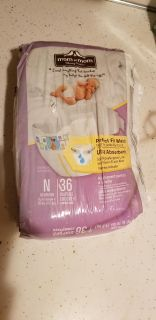 Mom to Mom New Born Diapers - 36 Ct. - Perfect For Waist