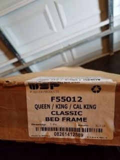 W. Silver Products F55012 Queen/King/Cal King Bed Frame