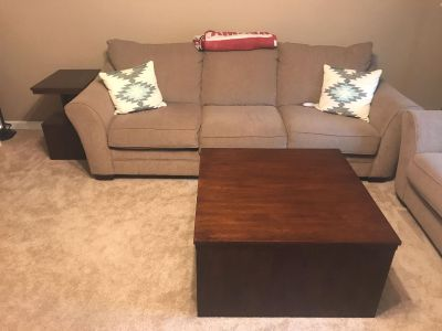 Couch, Love Seat, Swivel Rocker, End tables and coffee table