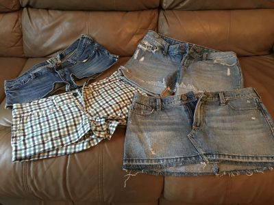 Shorts and Jean skirt size 7