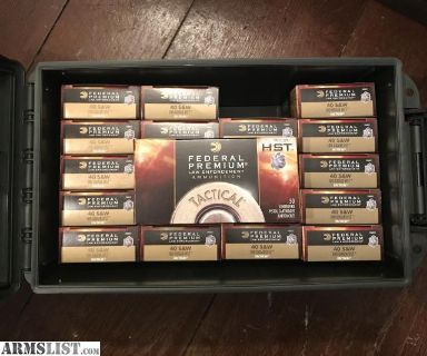 For Sale/Trade: Federal .40 S&W 180 gr HST