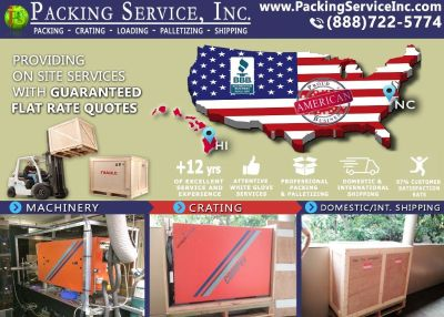 Packing Service, Inc. Domestic Shipping and Industrial Crating - Raleigh, North Carolina