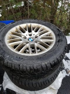 4 bmw rims and winter tires.