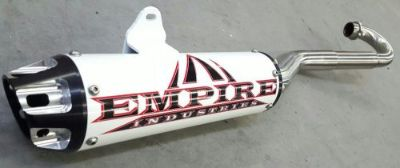 Purchase Kawasaki KFX 450 Full Exhaust System Empire Industries Dasa Barker HMF Monster motorcycle in Riverside, California, United States, for US $529.00