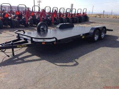 2019 All Steel Car Hauler, 7x20 Tandem Axle Car Trailer, Big Tex Trailers 70DM-20