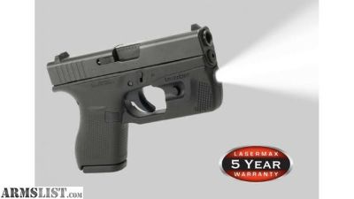 For Sale: Lasermax weapon light for Glock 42 or 43 NIB with holster