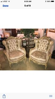 Victorian Wingback Chairs