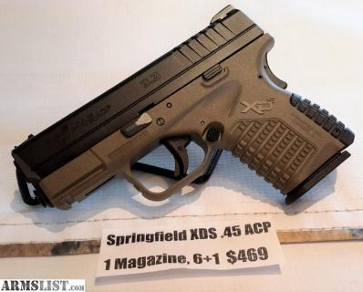 For Sale: NEW Springfield XDS .45 ACP, 1 Magazine & 6+1