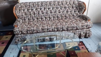 Couch and a coffee table