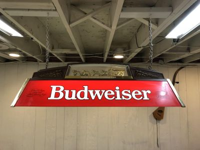 Vintage Budweiser Light with Clydesdale Horses