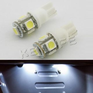 Purchase 2 x White 168 194 T10 2825 5-SMD LED Bulbs For License Plate Lights motorcycle in Cupertino, CA, US, for US $3.99