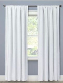 63' Thick White Blackout Curtains