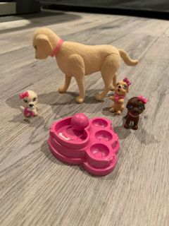 Barbie - mama dog and puppies / maman chien et chiots