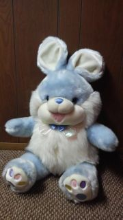 Blue and white Easter bunny