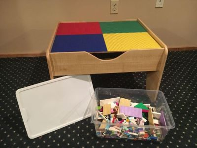 LEGO table with legos