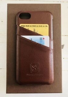 Simon of London leather IPhone 7 credit card Case
