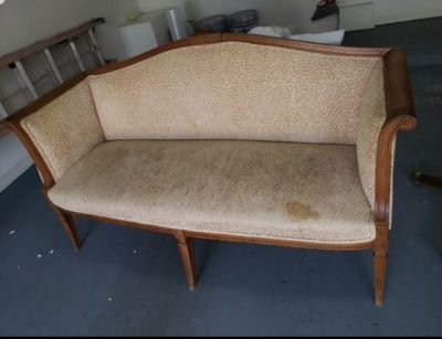 leopard print couch vintage
