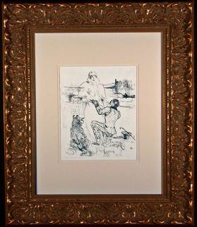 $1,420, The Declaration Original 1898 Lithograph by Toulouse-Lautrec
