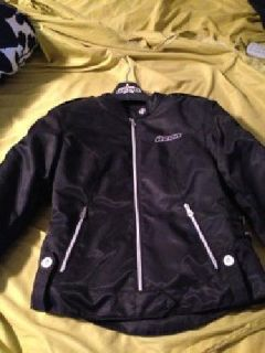 $175 Icon Hella Textile Motorcycle Jacket - Women's Size Mediu