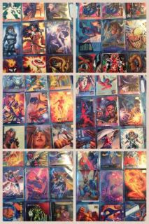 baseball football basketball and X-men collectable cards
