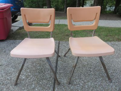 Two Very sturdy toddler chairs.