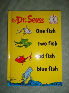 DFR SEUSS ''PNE FISH TWO FISH RED FISH BLUE FISH'' HARDCOVER BOOK