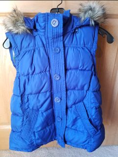 Aeropostale cute blue vest with hood
