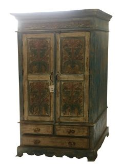 Antique Cabinet Chest Rustic Furniture Armoire with Drawers