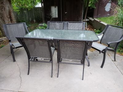Patio table and Bar Set
