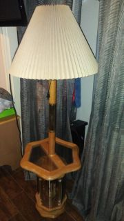 Lamp attached to table