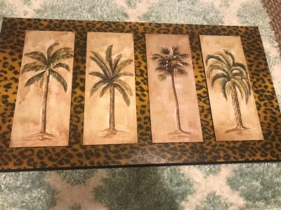 Palm tree/animal print wall decor