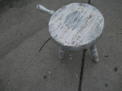 A 1960S ALL WOOD MILKING STOOL VINTAGE