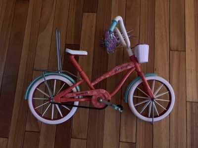Doll bicycle and helmet