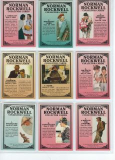 1993 Norman Rockwell Art Collection Trading Cards