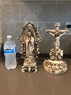 Mary and Jesus statues