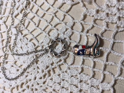 image 0 image 1 ??zoom Texas Flag Boot Pendant on Stainless Steel Chain with Extension Flag in F...