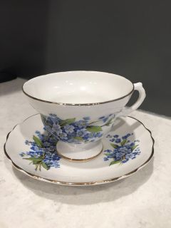 Royal Imperial fine bone china teacup and saucer