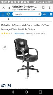 New in box! Dbl motor Leather massage office chair