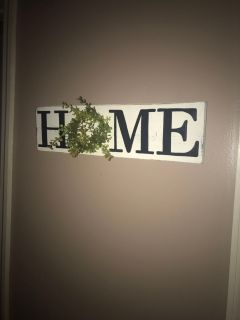 Small wood home sign