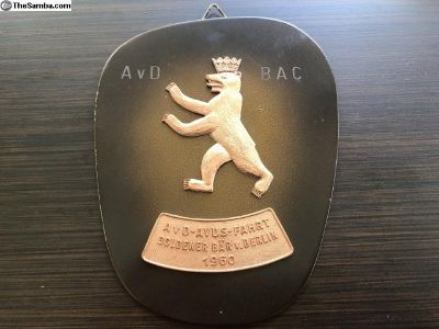 Rare and vintage 1960 AvD Berlin Badge