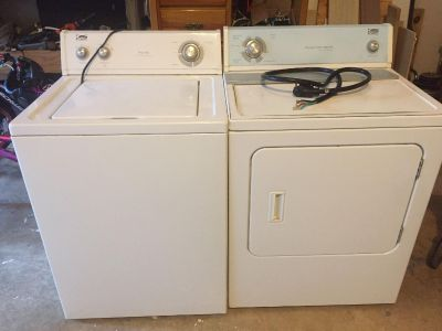 Estate by Whirlpool Corporation washer and dryer