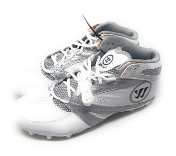 Men s warrior 2nd degree lacrosse cleats white gray size 14