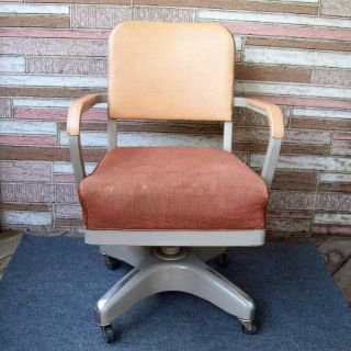 Industiral Tanker Office Chair Metal Rolling