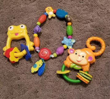 2 Rattles and 1 Teether