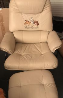 New Tucson Leather Chair with Ottoman