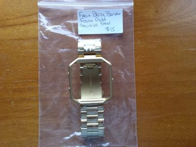 Fitbit blaze gold stainless steel band and frame