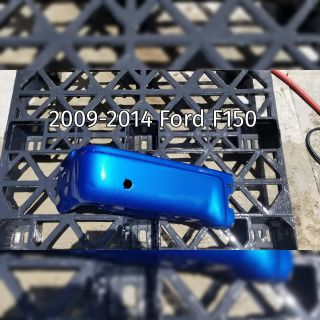 2009-2014 Ford F150 Blue Metallic Left Bumper End (minor ding + scratches)