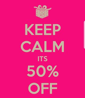 Everything is 50% off!