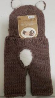 New Brown bear crochet hat and pants